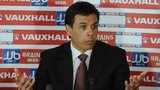 Wales manage Chris Coleman, flanked by CEO Jonathan Ford and FAW President Phil Pritchard