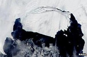 Satellite image of the PIG iceberg (Image: Nasa)