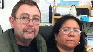 Divina Alavarta-Hughes and her husband Steven