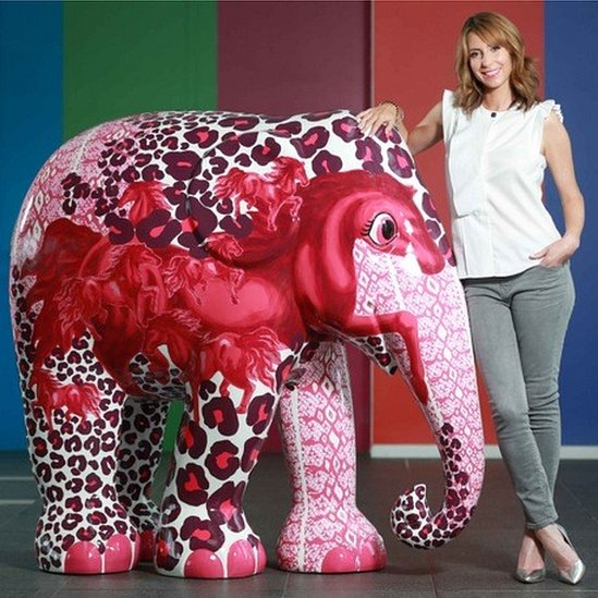 Alex Jones with her elephant design, Spirit