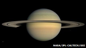 Saturn taken by the Cassini probe