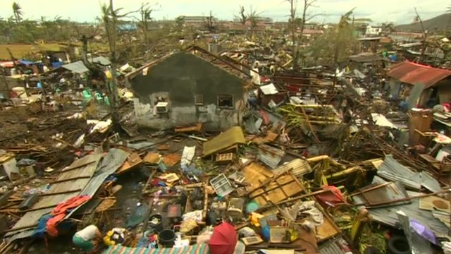 Devastation left by Typhoon Haiyan
