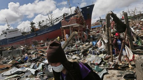 Typhoon Haiyan has caused maximum damage to the coastal city of Tacloban