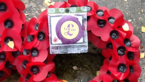 UKIP wreath in Spalding