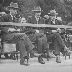 Eamon Donnelly, Eoin O'Duffy and Michael Collins in 1921