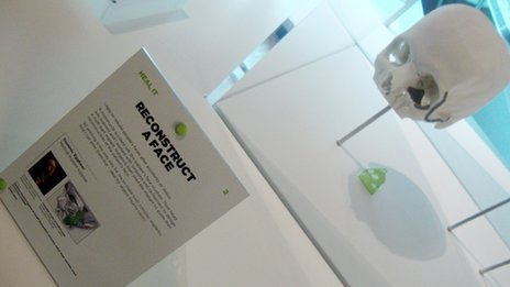 The 3D printing features in an exhibition at London's Science Museum