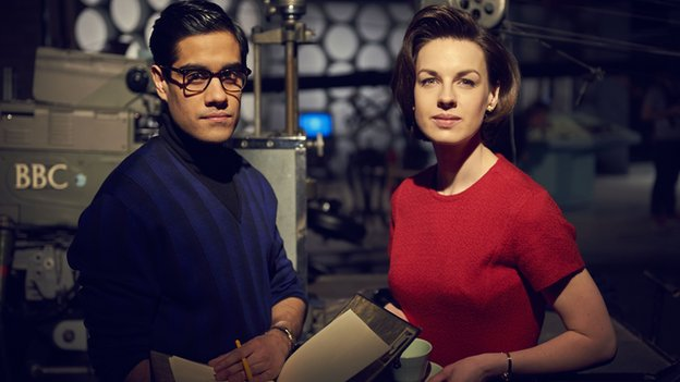 Sacha Dhawan and Jessica Raine in An Adventure in Space and Time