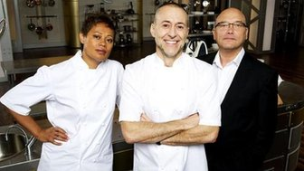 Monica Galetti, Michel Roux Jnr, and Greg Wallace