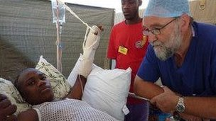 Professor Redmond helped victims of the 2010 Haiti earthquake