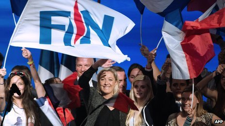 FN rally in France - file pic