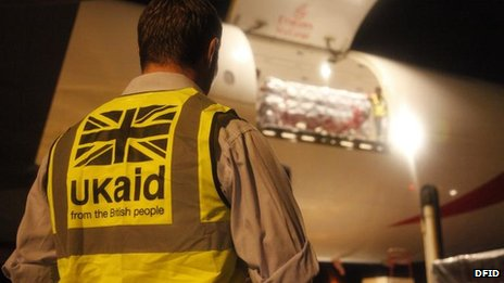DfID humanitarian worker oversees arrival of UK aid at Cebu