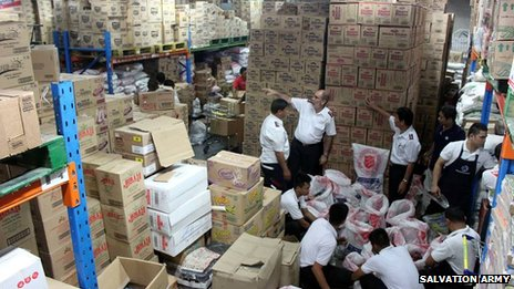 Salvation Army warehouse in Manila