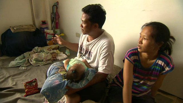 A family in Tacloban
