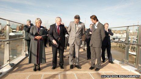 Opening of Adur Ferry Bridge