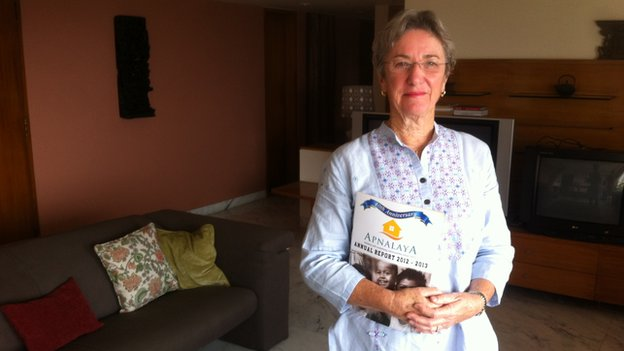 A picture of Sachin Tendulkar's mother in law, Annabel Mehta, in her flat
