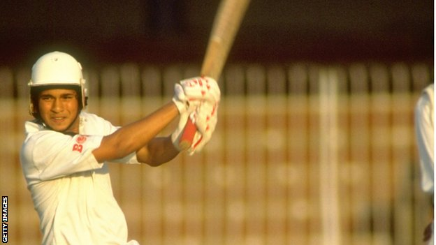 Sachin Tendulkar made his Test debut for India against Pakistan, aged 16, in 1989