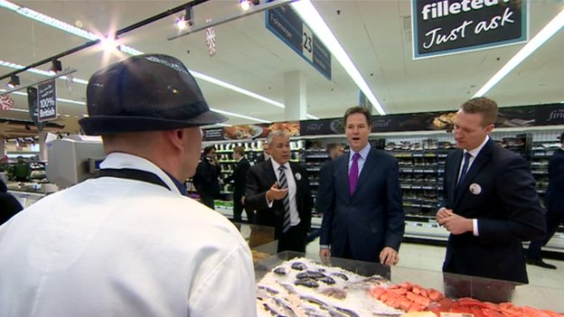 Nick Clegg in Tesco