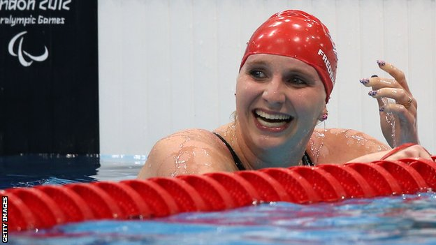 Paralympic swimmer Heather Frederiksen