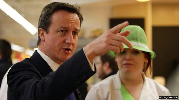 David Cameron in Asda