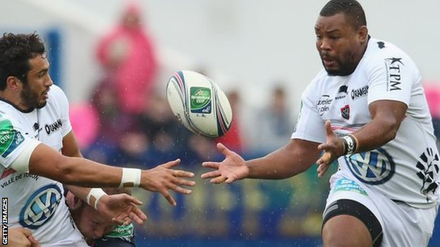 Steffon Armitage in action for Toulon.
