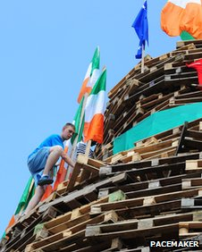 Bonfire in south Belfast