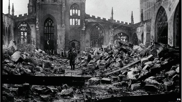The cathedral after the blitz