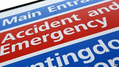 Generic image of an accident and emergency entrance notice