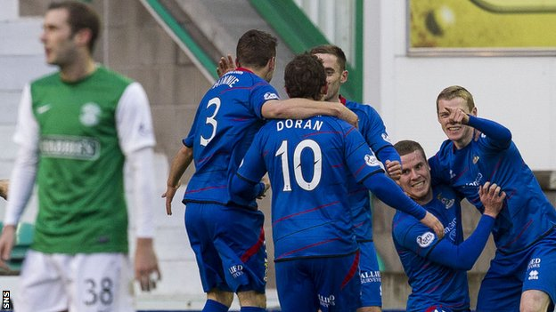 Inverness won 2-0 at Easter Road on Saturday