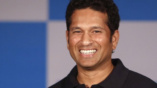 Indian cricket player Sachin Tendulkar