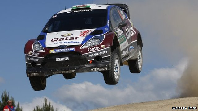 Elfyn Evans in action
