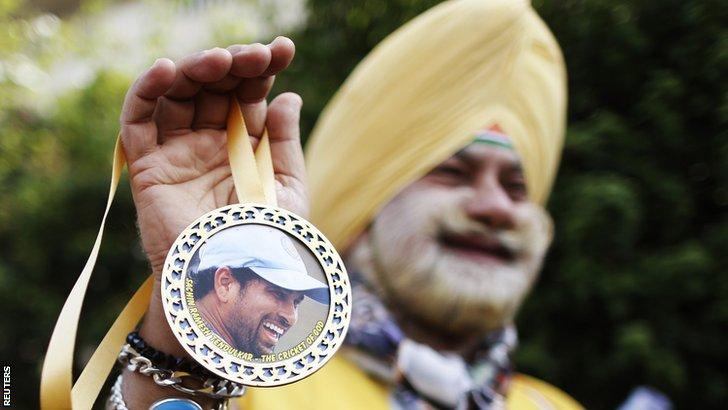 Indian Sachin Tendulkar fan