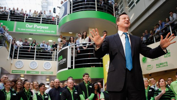 David Cameron at Asda HQ in 2012