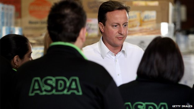 David Cameron in Asda