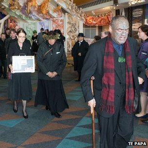 Birmingham University repatriated remains on their way to the Sacred Repository within Te Papa