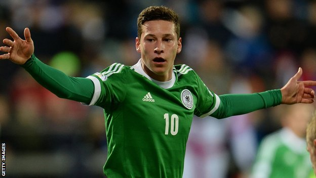 Germany midfielder Julian Draxler