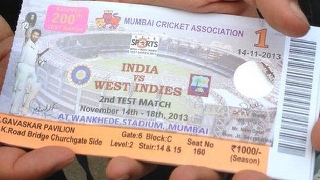 Ticket for Sachin Tendulkar's last match