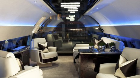 Inside the office of the Jet Business