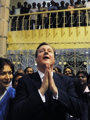 David Cameron in Calcutta