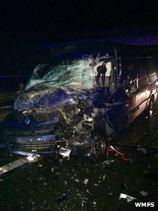 Van pic M40 crash