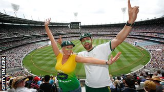 Australia fans at the MCG on Boxing Day 2010