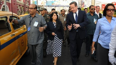Priti Patel and David Cameron