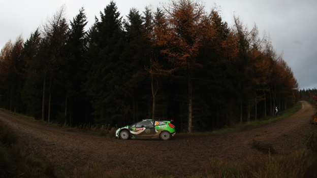 Yazeed Al Rajhi of Saudi Arabia and co-driver Michael Orr of Great Britain in action