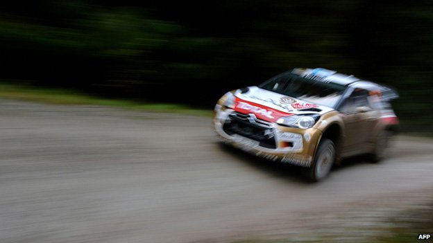 "Spain""s Dani Sordo drives a Citroen Total Abu Dhabi WRT DS3"