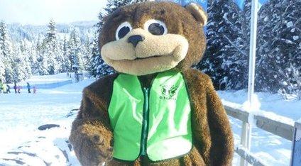 Jenny Lawrence as a bear