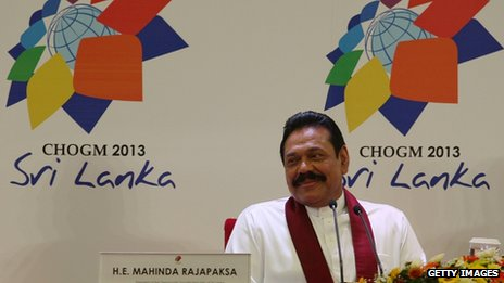 Sri Lankan President Mahinda Rajapaksa. 14 Nov 2013
