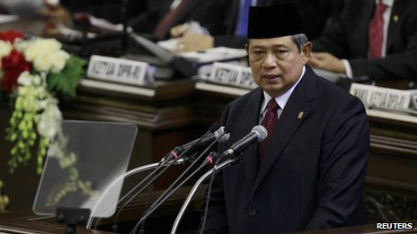 File photo: Indonesian President Susilo Bambang Yudhoyono