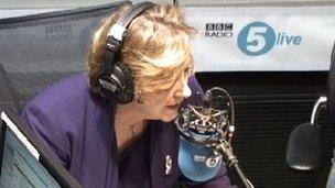 Screen shot from 5 live studio