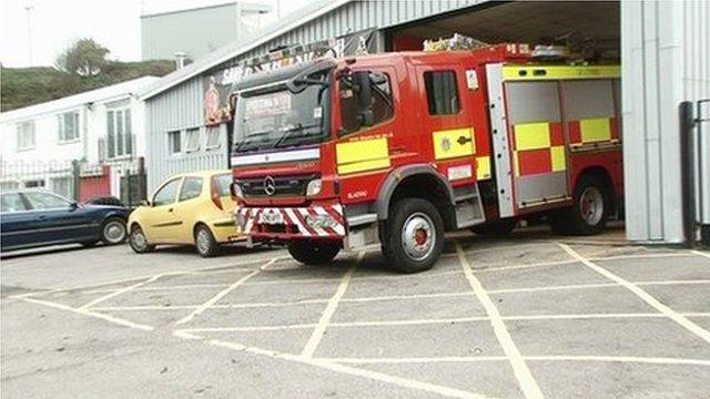 Fire engine at Blaina