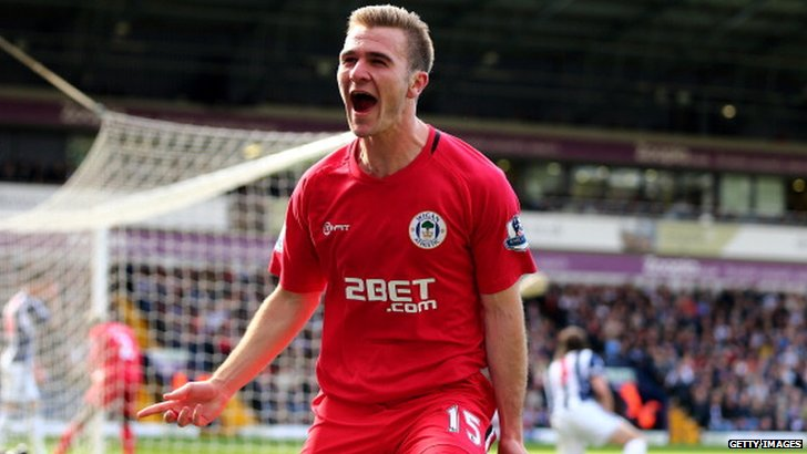 Wigan Athletic striker Callum McManaman