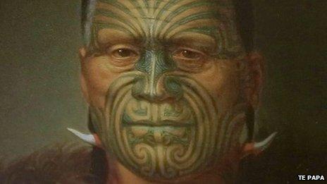 The Museum of New Zealand Te Papa Tongarewa displays Maori tattoo illustrations